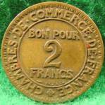 Click to view larger image of France 2 Franc Coin - 1922 (Image2)