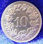 Click to view larger image of Switzerland Coin - 10 Centimes - 1932 (Image2)