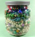 Click here to enlarge image and see more about item D541: Large Jar of Craft Jewelry - Some Wearable - 2.5 Pounds