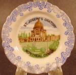 Click here to enlarge image and see more about item D553: Miniature Porcelain Plate ~ St. Joseph's Oratory Canada
