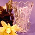 Click here to enlarge image and see more about item D581: Crystal Toothpick Holder - Diamond Column Pattern
