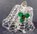 Click here to enlarge image and see more about item D601: Spun Glass Double Bell Christmas Tree Ornament
