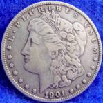 Click to view larger image of Morgan Type Silver Dollar Coin - 1901-O (Image1)
