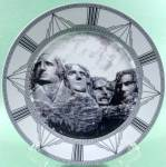 Click here to enlarge image and see more about item D742: Mount Rushmore Collector Plate ~ Royal Norfolk