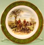 Click here to enlarge image and see more about item D744: Collector Plate ~ Miniature ~ Fox Chase Scene ~ Ireland