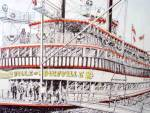Click to view larger image of Steamboat Painting - Signed and Numbered - 1992 (Image2)
