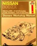 Click here to enlarge image and see more about item D755: NISSAN 300 ZX Manual - HAYNES - 1989