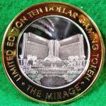 Click here to enlarge image and see more about item D764: THE MIRAGE Casino Ten Dollar .999 Silver Strike