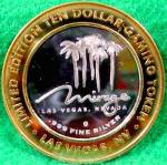 Click to view larger image of THE MIRAGE Casino Ten Dollar .999 Silver Strike (Image2)
