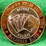 Click to view larger image of McCarran Slots and Royal Flush .999 Silver Strike (Image1)