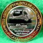 Click here to enlarge image and see more about item D769: McCarran Airport $10 Silver Strike .999