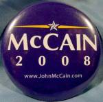 John McCain 2008 Political Button
