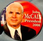 John McCain 2008 Political Campaign Button