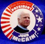 Click here to enlarge image and see more about item D796: John McCain Political Campaign Button - 2008