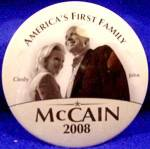 Cindy & John McCain Political Campaign Button - 2008