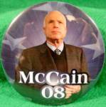 Click here to enlarge image and see more about item D805: John McCain Political Campaign Button - 2008