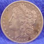 Click here to enlarge image and see more about item D815: Morgan Type Silver Dollar - 1897 - O
