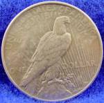 Click to view larger image of Peace Dollar Silver Coin - 1925 (Image2)