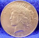 Click here to enlarge image and see more about item D849: Peace Silver Dollar Coin 1922