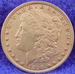 Click to view larger image of Morgan Type Silver Dollar Coin 1896 (Image1)