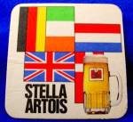 Click here to enlarge image and see more about item D856: Beer Coaster - Stella Artois - Vintage - Belgium
