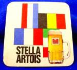Click to view larger image of Beer Coaster - Stella Artois - Vintage - Belgium (Image2)