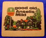 Click here to enlarge image and see more about item D857: Beer Coaster - Ansells Mild Beer - Vintage - U.K.