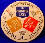 Click here to enlarge image and see more about item D858: Beer Coaster - Davenports - U.K. - Vintage