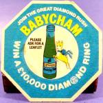 Click here to enlarge image and see more about item D865: Beer Tavern Coaster Mat - Babycham - U.K. - Vintage