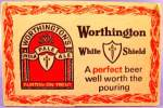 Click here to enlarge image and see more about item D866: Beer Tavern Coaster Mat - Worthington - U.K. - Vintage