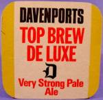 Click here to enlarge image and see more about item D867: Beer Tavern Coaster Mat - Davenports - U.K. - Vintage