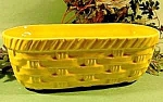 Click here to enlarge image and see more about item D8: McCoy Floraline Yellow Basketweave Planter No. 586