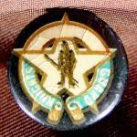Click here to enlarge image and see more about item E230: Lapel Pin Button - Guards and Knights - Celluloid