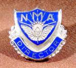 Click here to enlarge image and see more about item E235: NMA Director - Lapel Pin Button - 10K W.G.