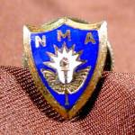 Click here to enlarge image and see more about item E252: NMA Lapel Pin Button - Vintage