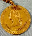 Click here to enlarge image and see more about item E315: American Jubilee World's Fair 1939 Key Chain