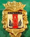 Click here to enlarge image and see more about item E335: Souvenir Spoon - Sevilla, Spain - Silver Plated