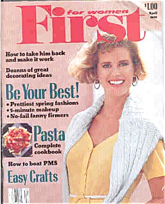 1989 FIRST for Women MAGAZINE Renee Simonsen (Image1)