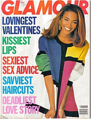Glamour Magazine 1991 FEB NAOMI CAMPBELL (Image1)