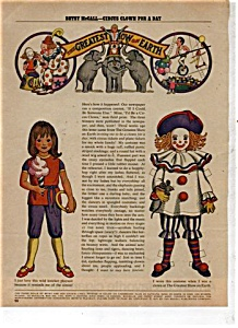 1971 Betsy McCall CIRCUS Paper Doll UNCUT (Image1)