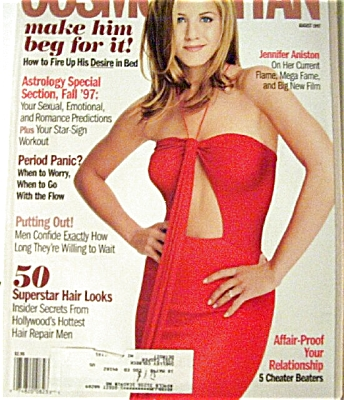 Cosmopolitan Magazine Aug 1997 Aniston