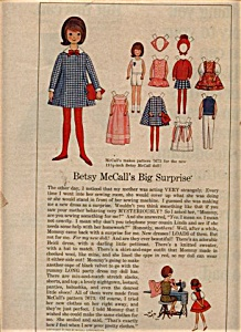 1965 Betsy McCall - her Paper Dolls UNCUT Pap (Image1)