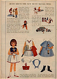 1964 Betsy McCall Meet New DOLL PaperDOLL (Image1)