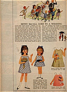 1965 Betsy McCall - Linda WEDDING Paper Dolls (Image1)