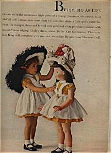 1957 Amer Char  Betsy McCall PLAYPAL DOLL AD (Image1)