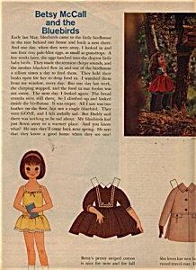 1962 Betsy McCall UNCUT Bluebirds Paper DOLL (Image1)