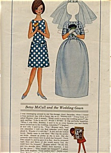 1954 Mrs. Mccall Betsy Wedding Dress Doll