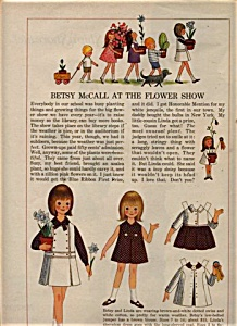 1965 Betsy Mccall - Linda Paper Dolls Doll