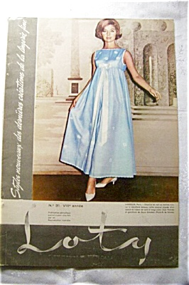 1950's LOTY France Fashion LINGEREE Catalog (Image1)
