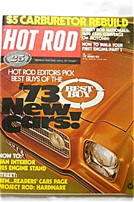 HOT ROD OCT 1972 Car Magazine NEW 73 Cars (Image1)